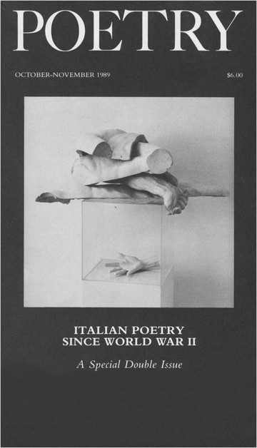 October/November 1989 Poetry Magazine cover