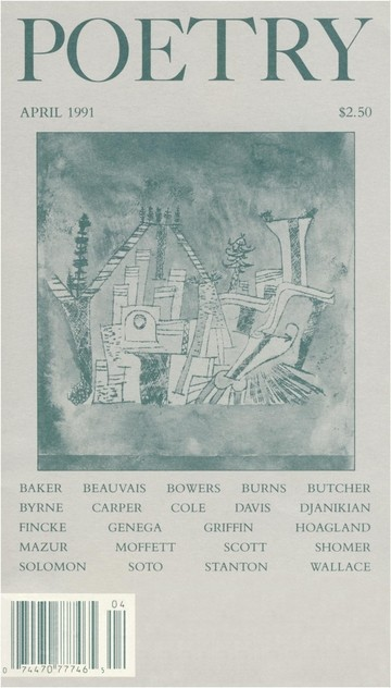 April 1991 Poetry Magazine cover