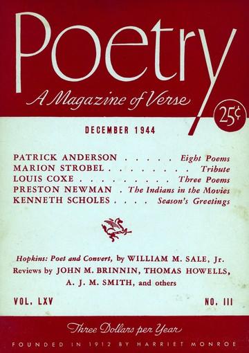 1944年12月诗歌杂志封面