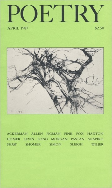 1987年4月诗歌杂志封面