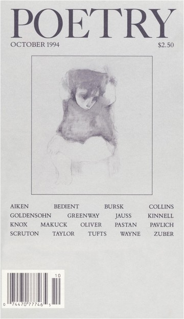 October 1994 Poetry Magazine cover