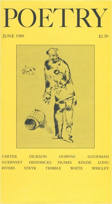 June 1989 Poetry Magazine cover
