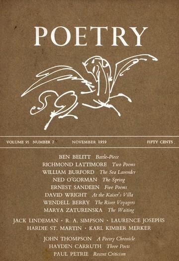 1959年11月诗歌杂志封面