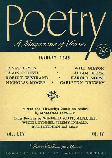 1945年1月诗歌杂志封面