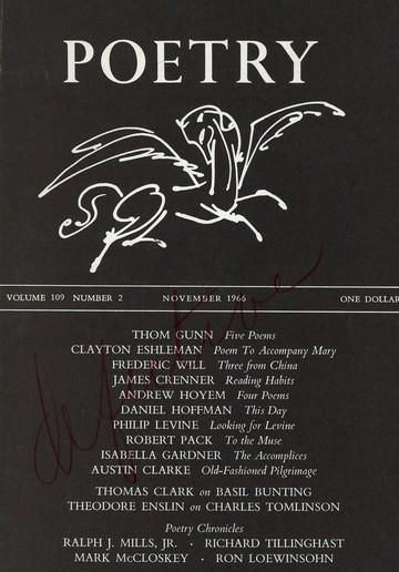 1966年11月诗刊封面