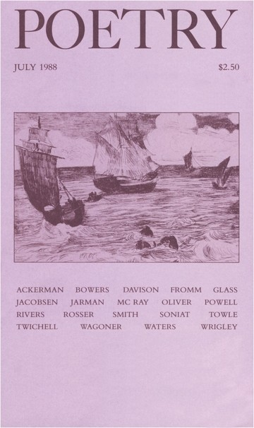 July 1988 Poetry Magazine cover