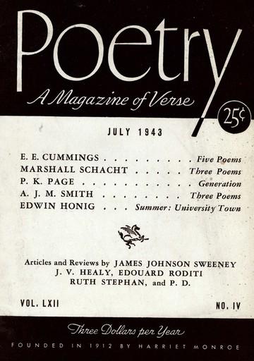 1943年7月诗歌杂志封面
