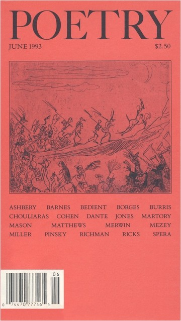 June 1993 Poetry Magazine cover