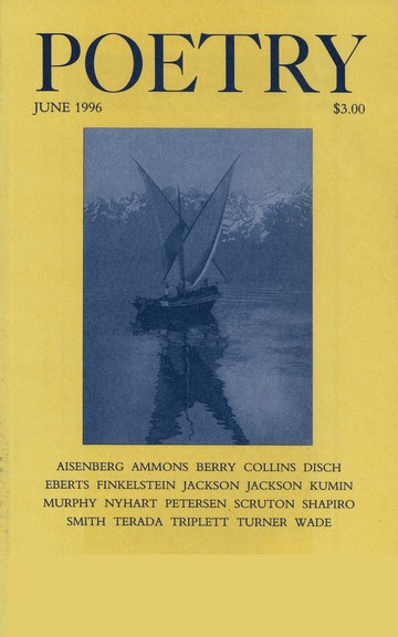 June 1996 Poetry Magazine cover