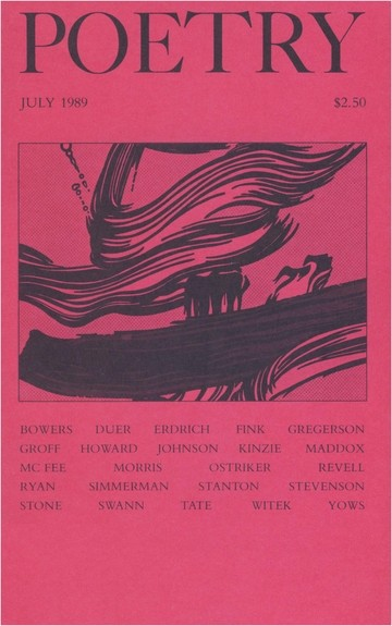 July 1989 Poetry Magazine cover
