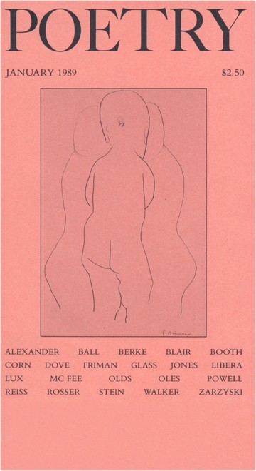 January 1989 Poetry Magazine cover