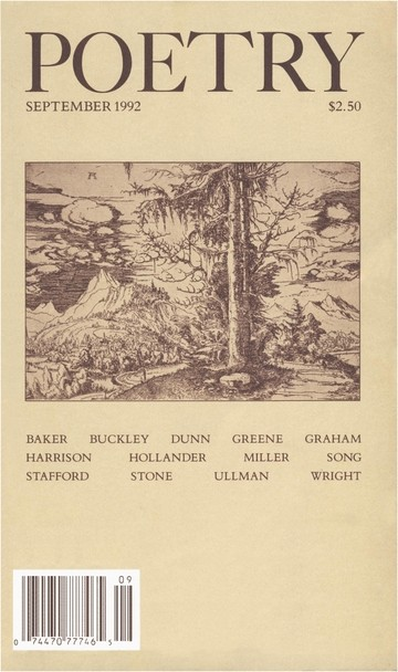 September 1992 Poetry Magazine cover