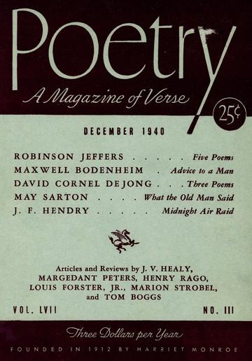 1940年12月诗歌杂志封面