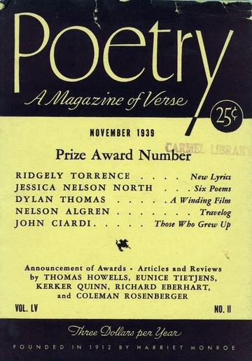 1939年11月诗刊封面