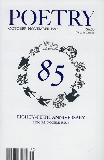 October 1997 Poetry Magazine cover