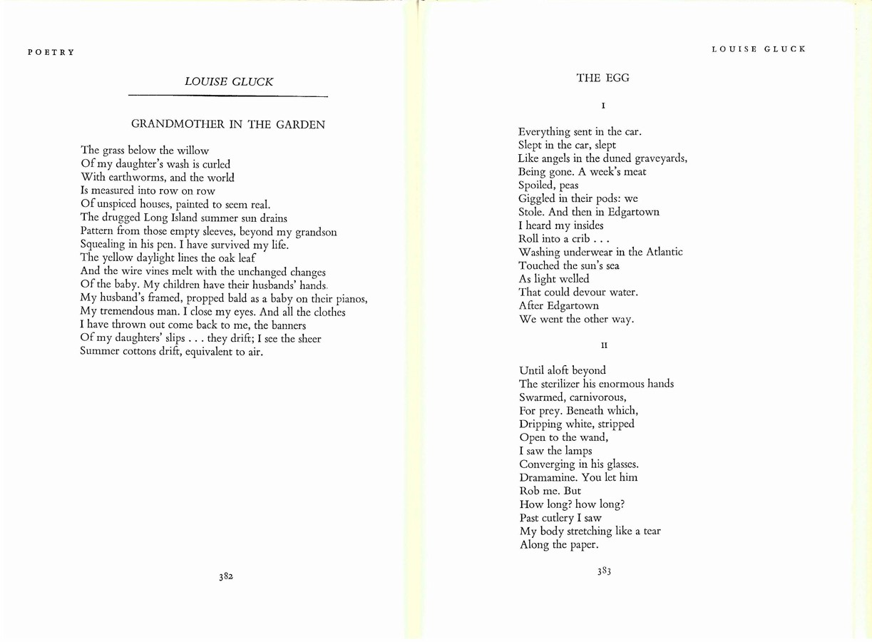 From The Archive Louise Gluck By The Editors Poetry Foundation