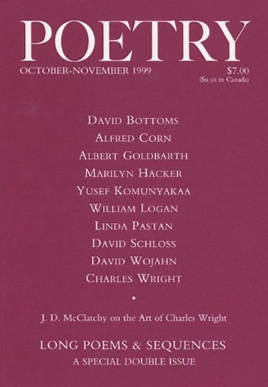 October 1999 Poetry Magazine cover