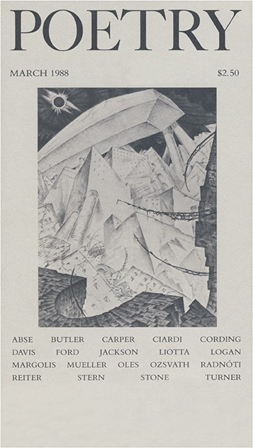 March 1988 Poetry Magazine cover