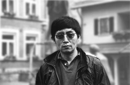 Black and white image of Bei Dao.
