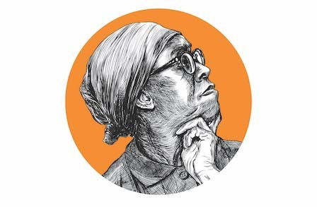 Illustration of Gwendolyn Brooks.