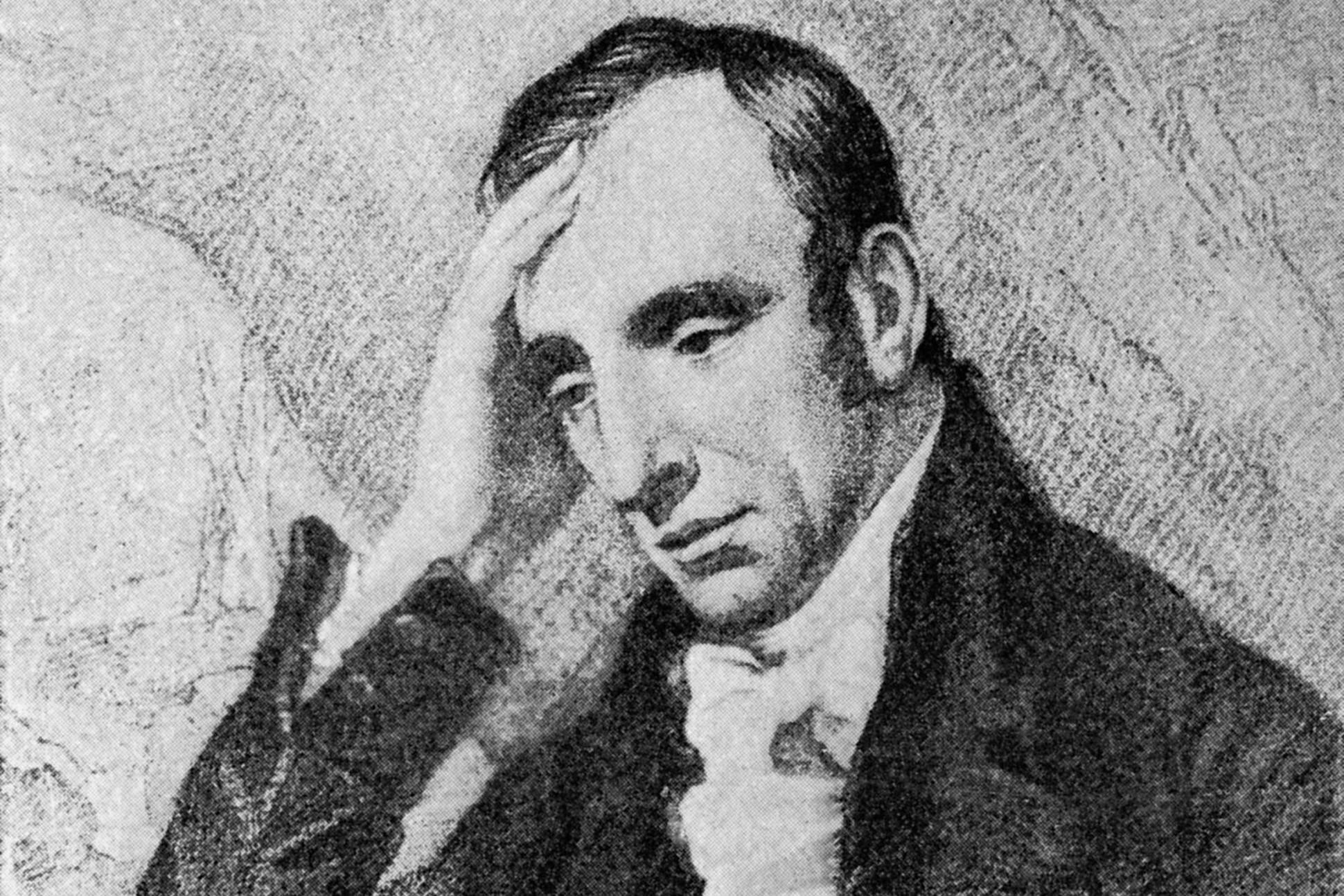Etching of William Wordsworth.