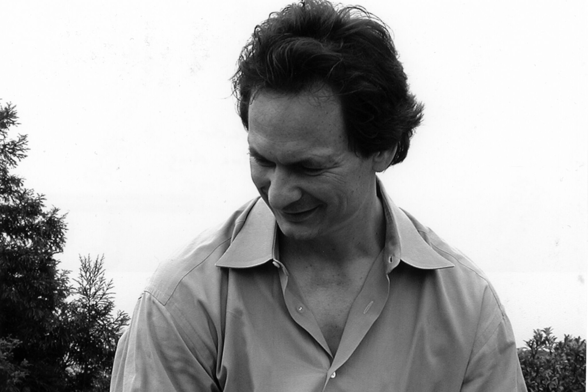 Black and white image of Forrest Gander.