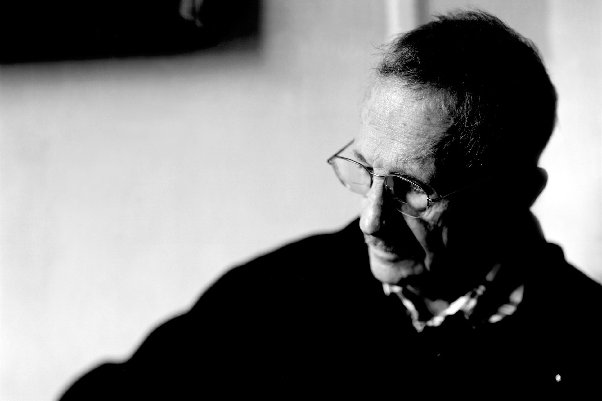 Black and white image of Philip Levine