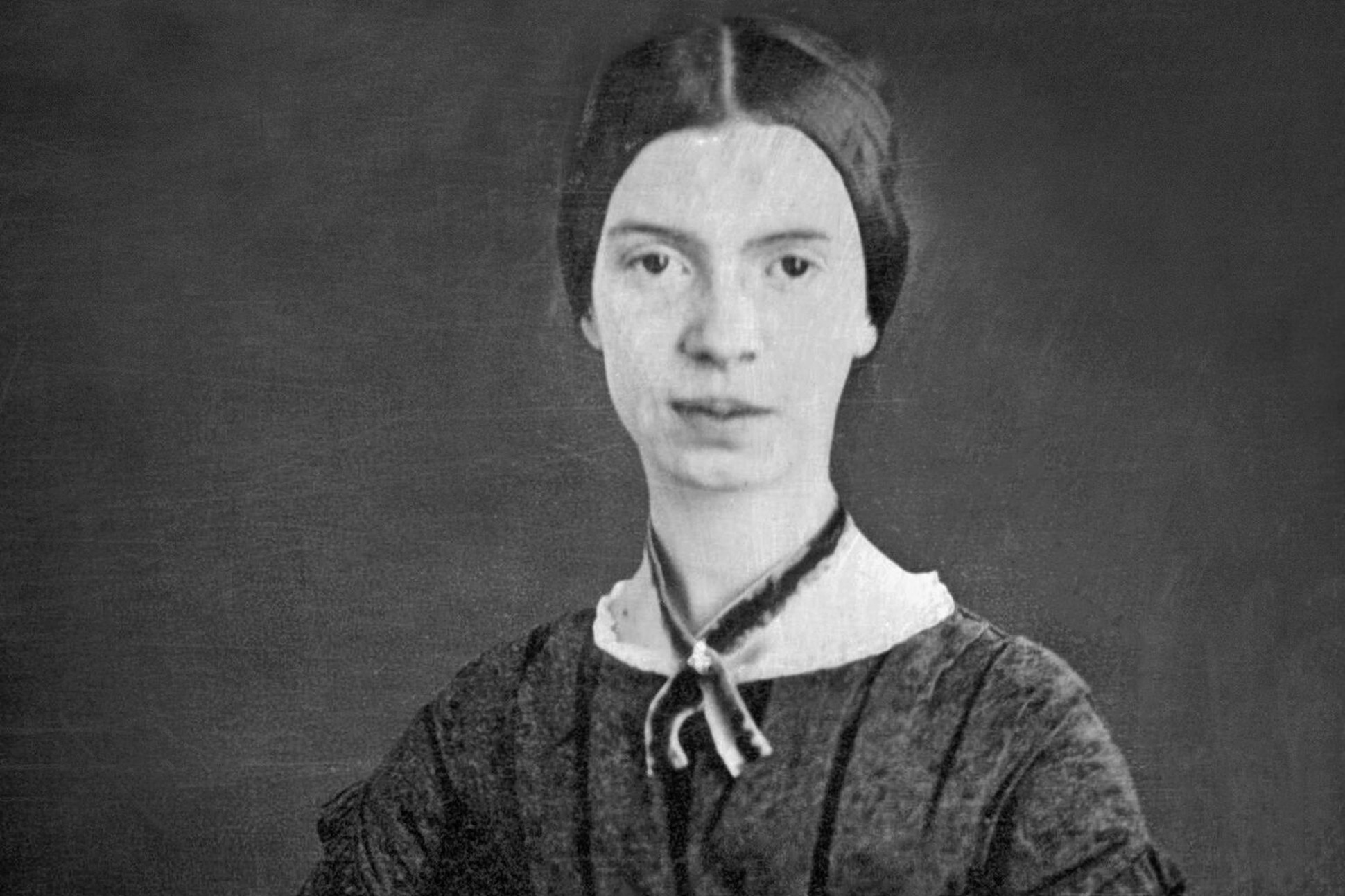Black and white image of Emily Dickinson.