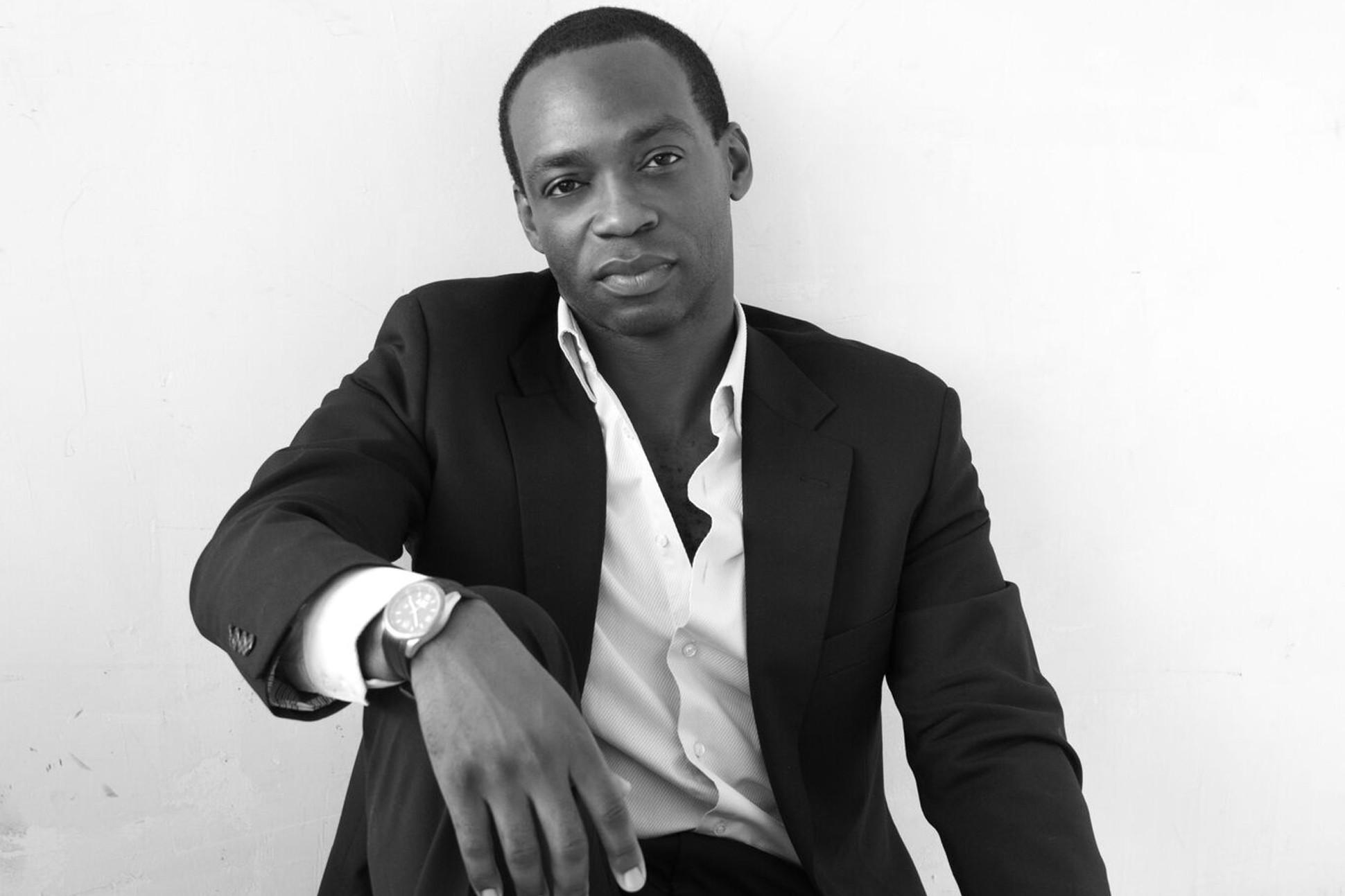 Black and white image of Rowan Ricardo Phillips.