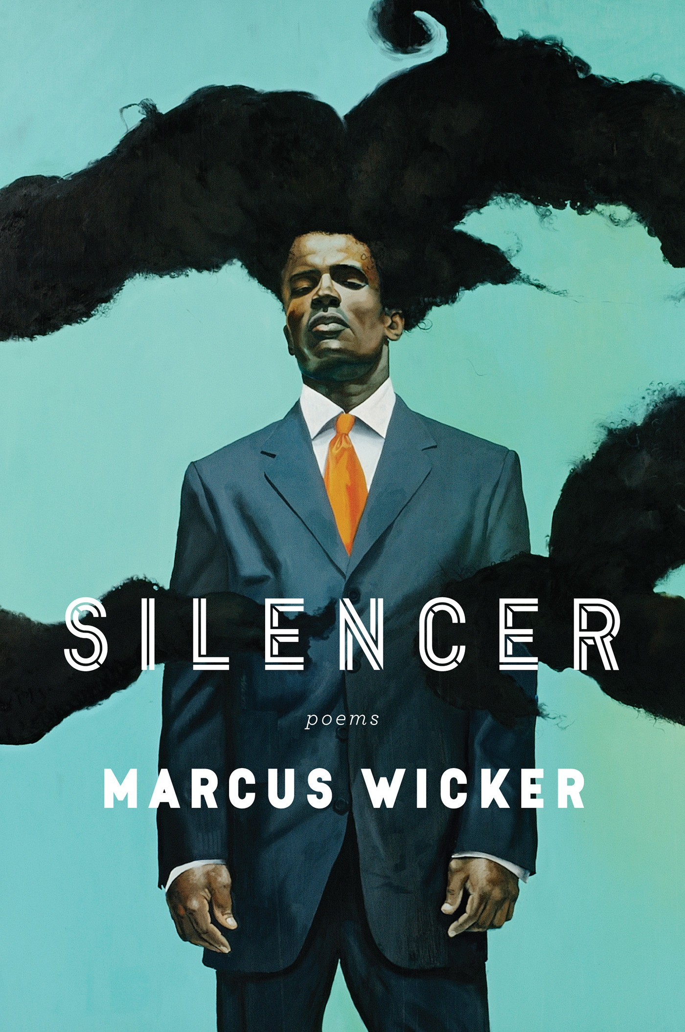 Book cover of silencer by Marcus Wicker