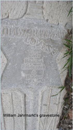 William Jahrmarkt's gravestone