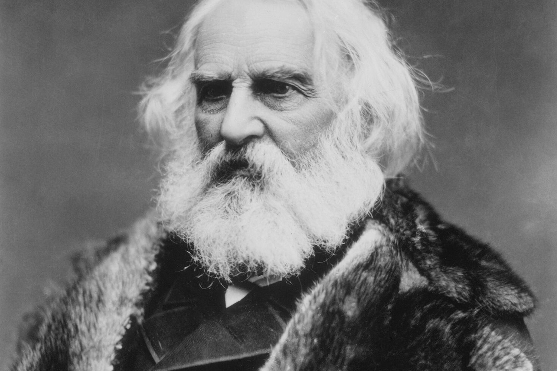 Black and white photograph of Henry Wadsworth Longfellow.