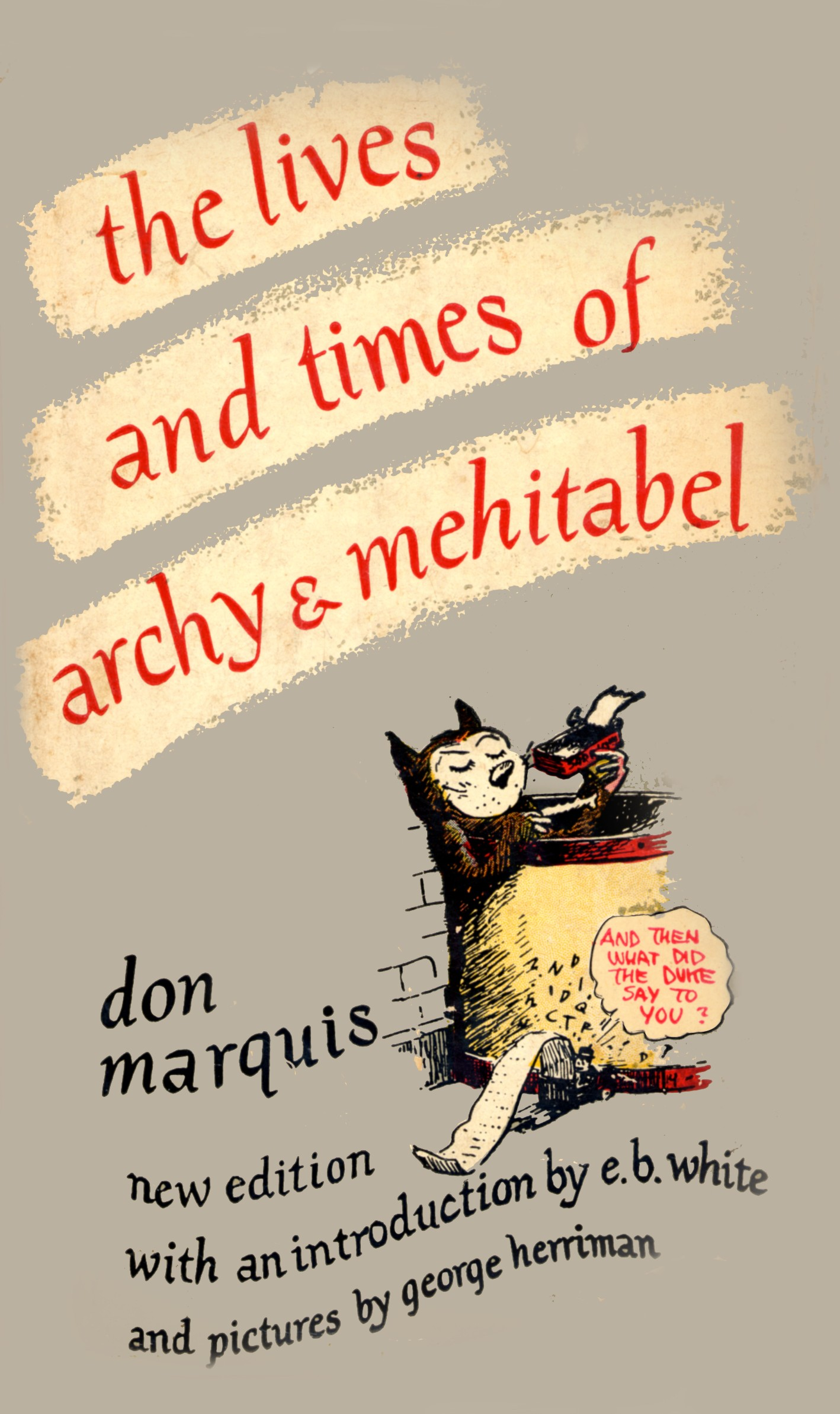 Image of a book cover of Archy and Mehitabel.