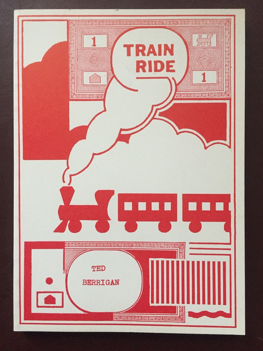 Cover for Train Ride by Ted Berrigan